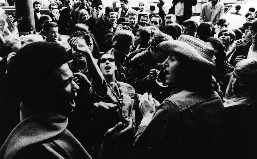 Hippies Protesting In Haight-Ashbury, San Francisco