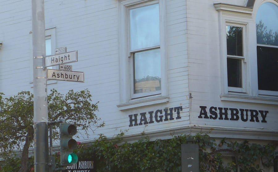 Haight Ashbury street sign in San Francisco, California.