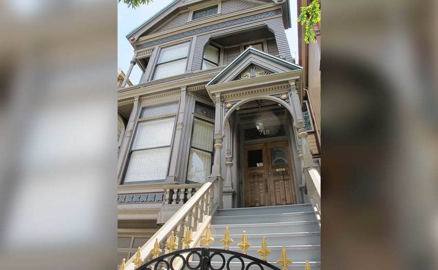 The house where the Grateful Dead's musicians lived in the 1960s, at 710 Ashbury Street in San Francisco.