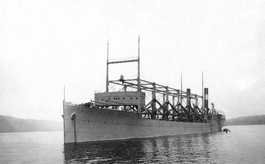 Boat USS Cyclops which disappeared in the Bermuda triangle when it came back from a trip to Brazil.