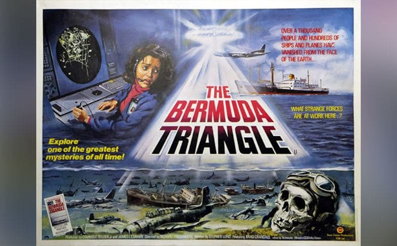 The Movie poster for 'The Bermuda Triangle'.