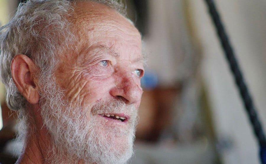 A closeup of a smiling Morandi.