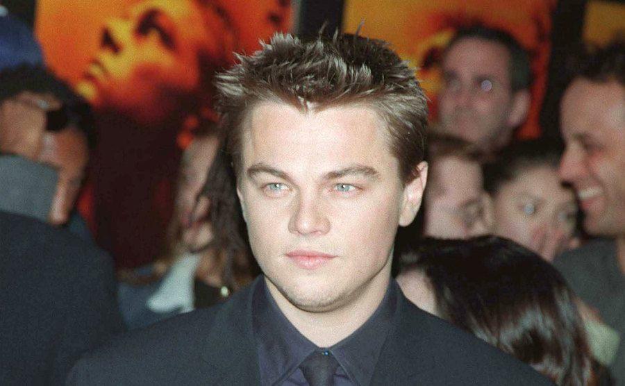 Leonardo DiCaprio at the film premiere.