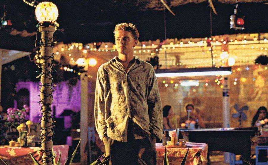 Leonardo DiCaprio in a movie promo shot.
