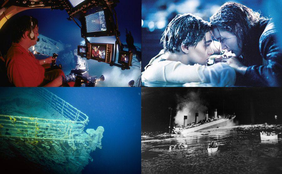 The Titanic Expedition / Leonardo DiCaprio, Kate Winslet / The Titanic remnants / The Titanic.