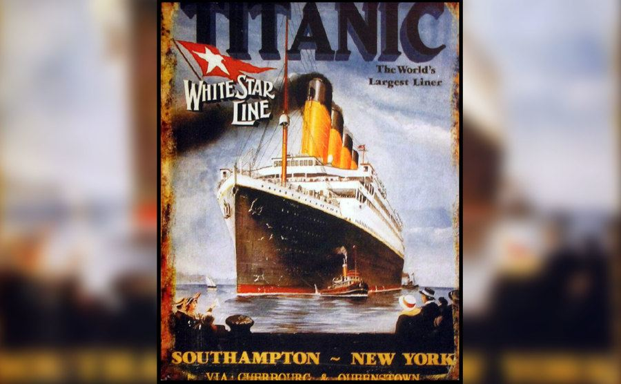 A vintage poster from the Titanic.