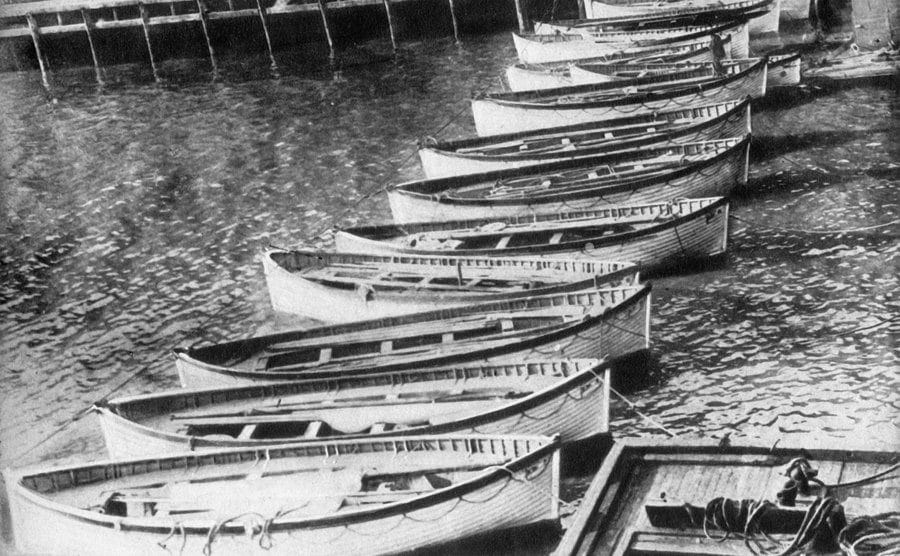 A number of the ill-fated Titanic lifeboats.