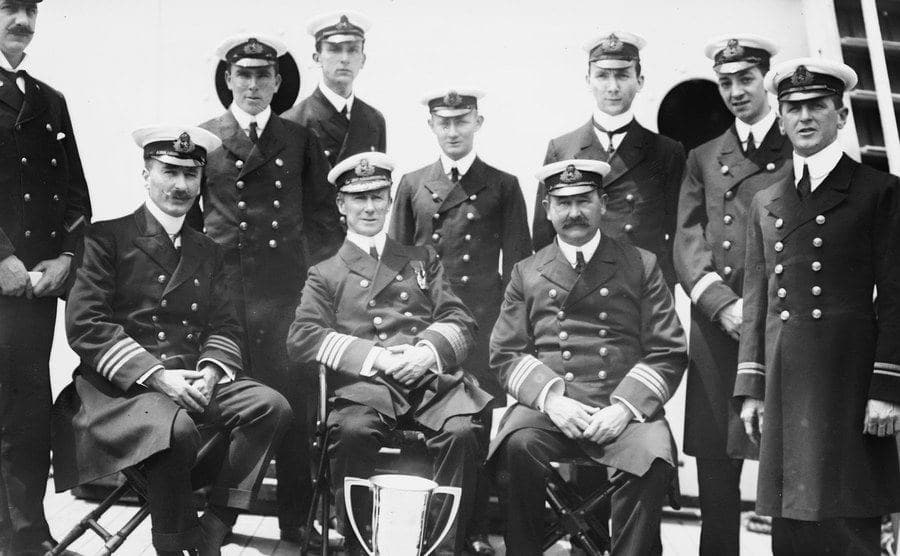 The officers' crew at the Titanic.