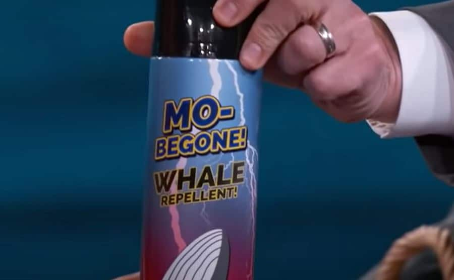 Jimmy Kimmel gifts Michael a ''whale repellent.''