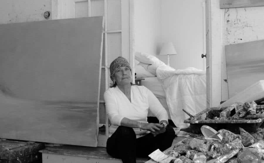 A portrait of Anne Packard in her studio.