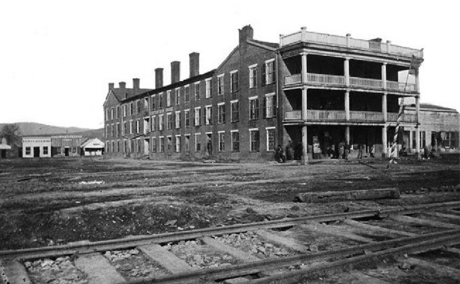 The Old Crutchfield House as a hospital.