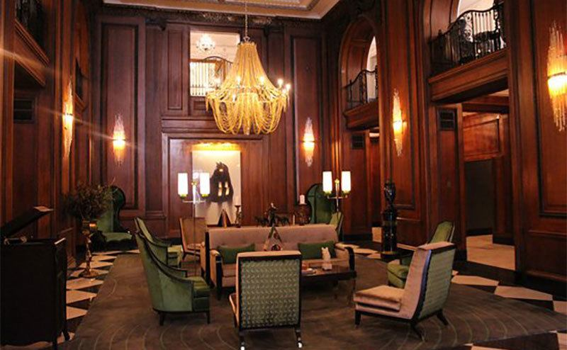The hotel's interior.