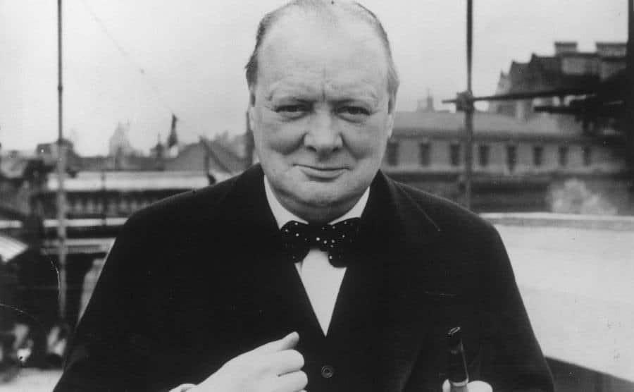 British Conservative politician Winston Churchill.