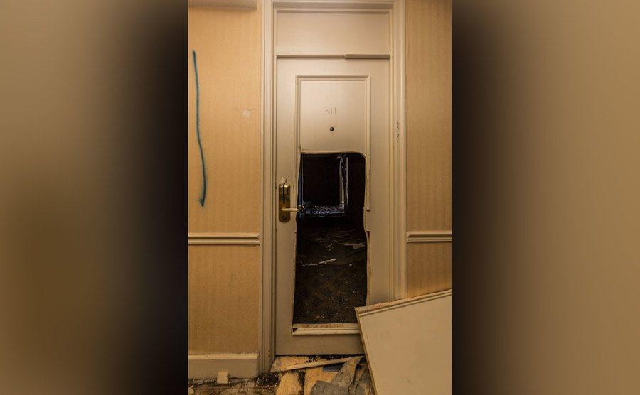 A photo of Room 311's door.