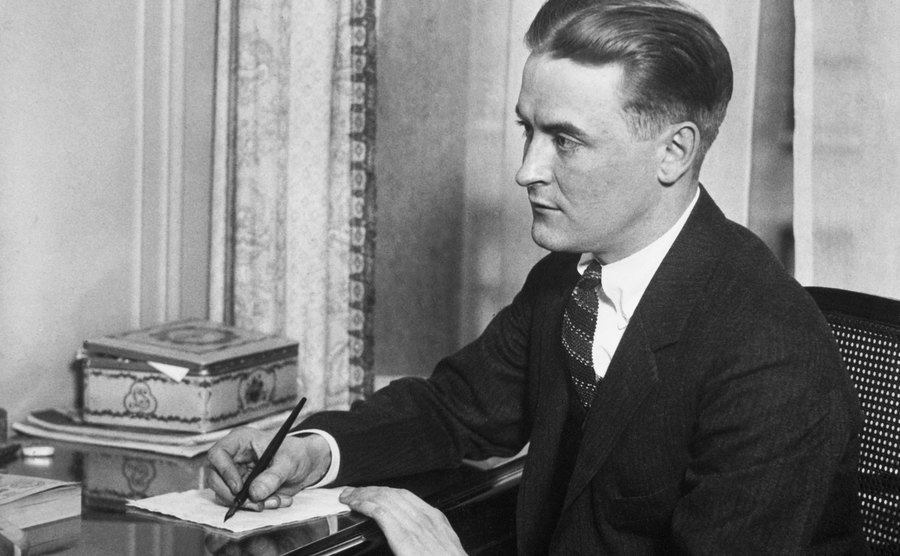 Portrait of Francis Scott Fitzgerald.