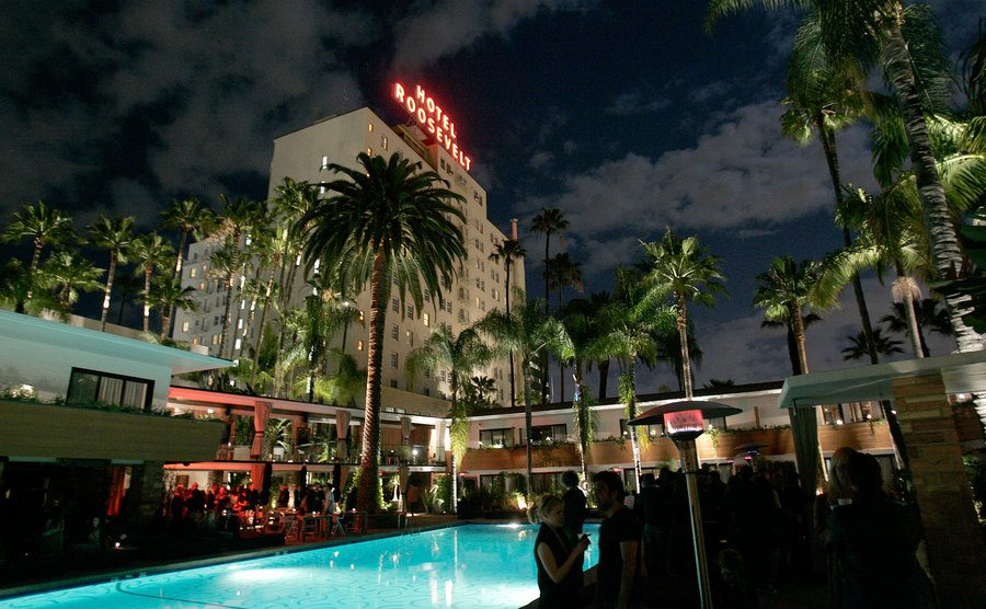 The Roosevelt Hotel in Hollywood, California.
