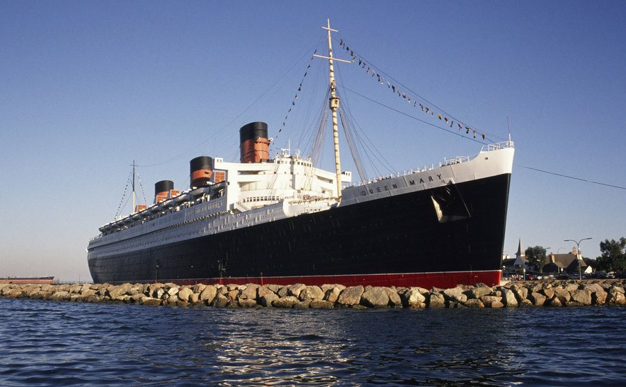 The Queen Mary Hotel in Long Beach, California.