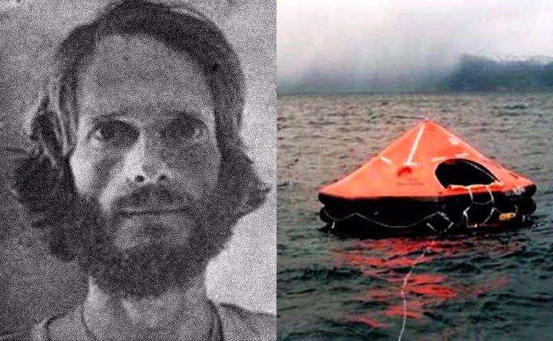 A portrait of Steven Callahan / A small boat adrift.