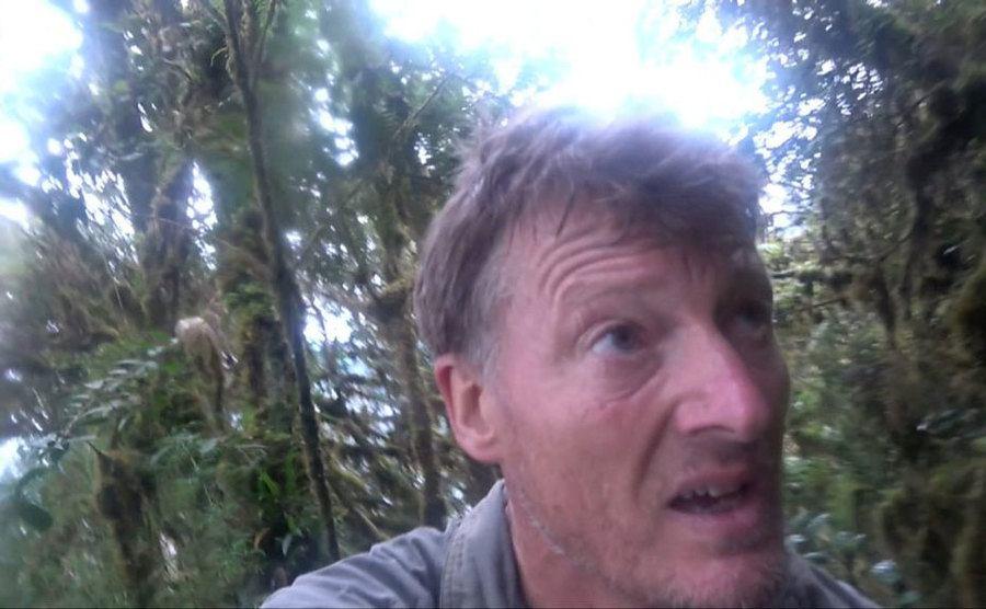 Benedict Allen is struggling to get through the jungle.