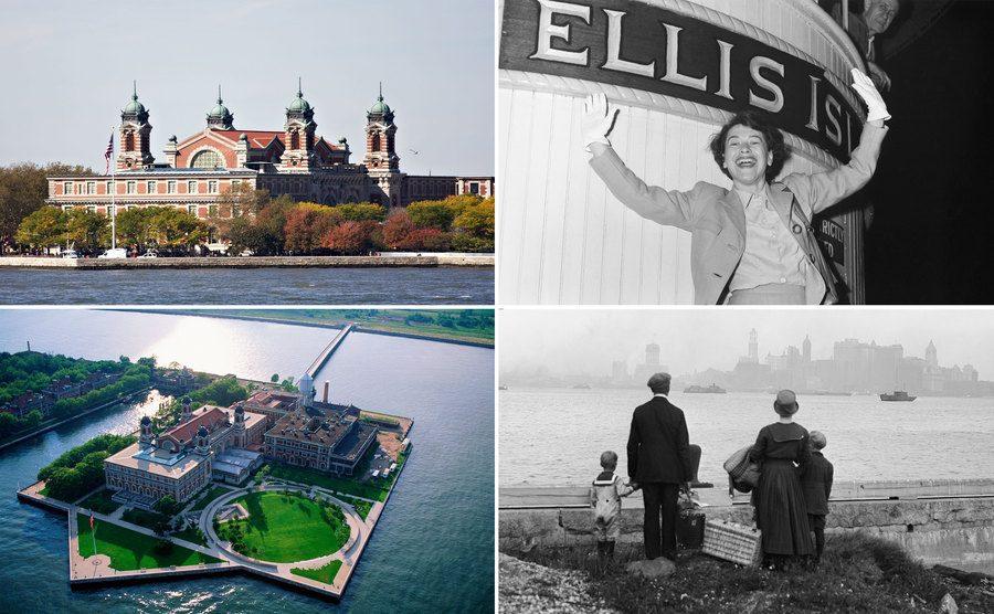 Ellis Island / Ellen Knauff / Ellis Island / Immigrants at Ellis Island.