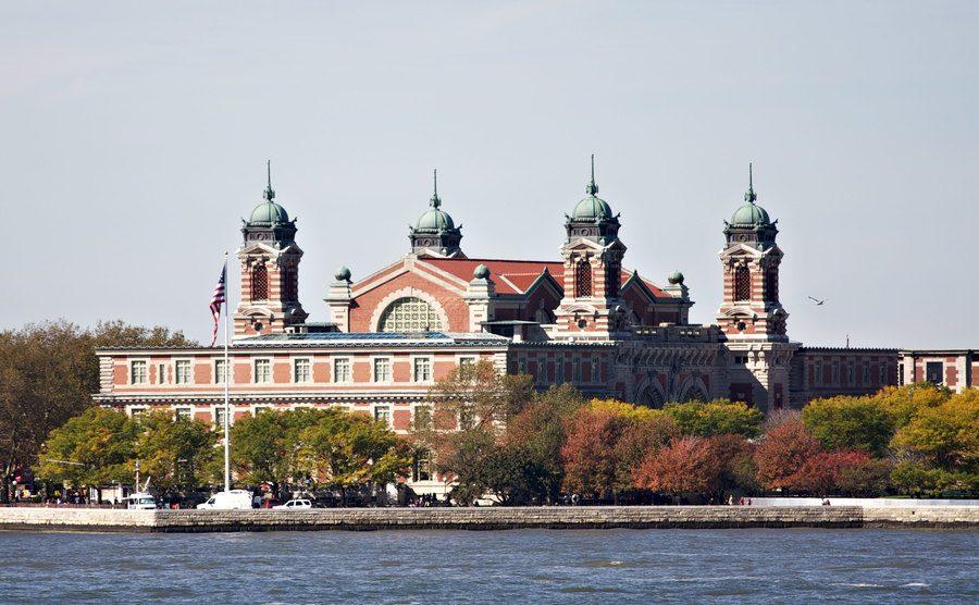 A view of Ellis Island from Manhattan.