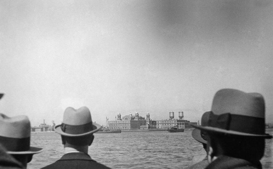 A view of Ellis Island.