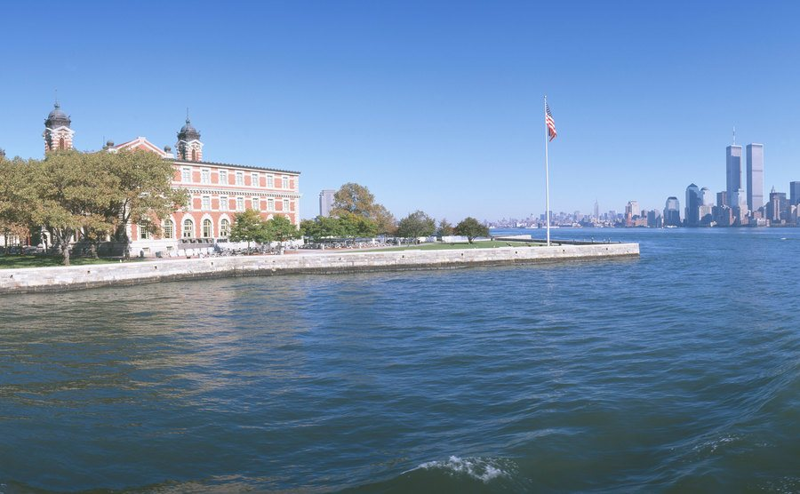 A current picture of Ellis Island.