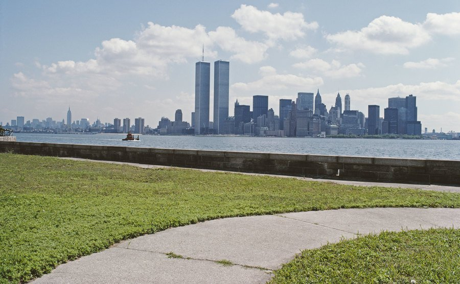 A view across the Hudson River from Ellis Island.