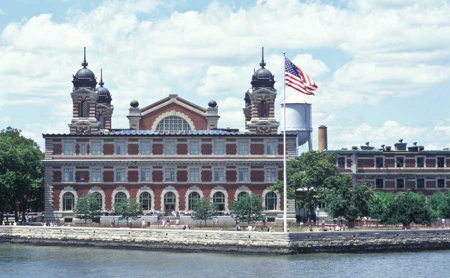 An exterior view of Ellis Island Immigration Museum.