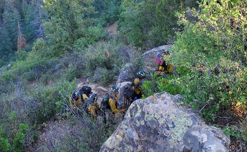 The Santa Fe Fire Department is searching for the lost man in the woods.